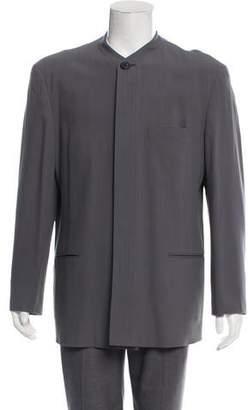 Issey Miyake Mandarin Collar Blazer Jacket