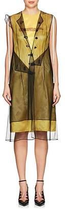 Calvin Klein Women's Logo Mesh-Layered Dress - Black Size 38 It
