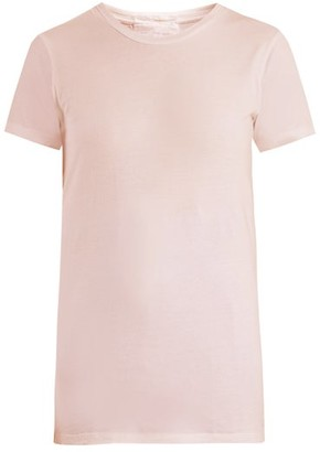 Audrey Louise Reynolds - Round Neck Cotton Jersey T Shirt - Womens - Light Pink