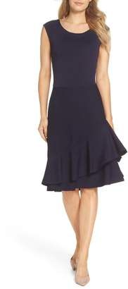 Eliza J Double Ruffle Dress