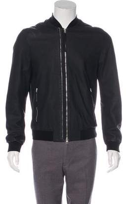 AllSaints Leather Bomber Jacket