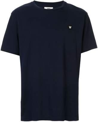 Wood Wood navy logo T-shirt