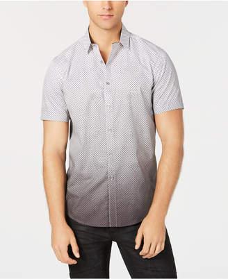 INC International Concepts I.n.c. Men's Dip-Dyed Net Pattern Shirt