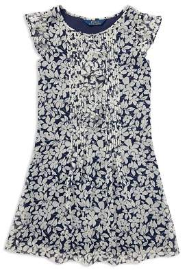 Ralph Lauren Girls' Floral Chiffon Dress - Big Kid