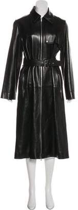 Celine Long Leather Coat
