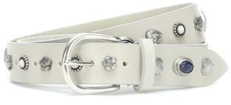 Isabel Marant Luke embellished leather belt
