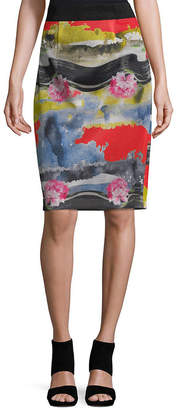 Milly Multicolored Long Pencil Skirt