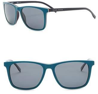BOSS Polarized 55mm Square Sunglasses