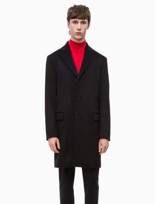 Calvin Klein cashmere peak lapel coat
