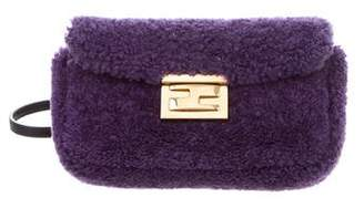Fendi Shearling Mini Be Baguette