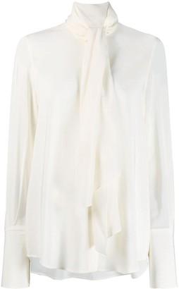 Salvatore Ferragamo scarf draped blouse