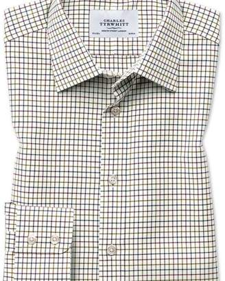 Charles Tyrwhitt Classic fit country check purple and green shirt