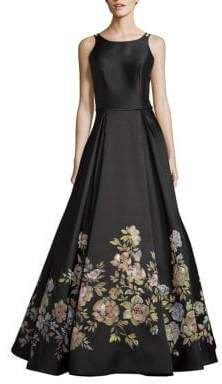 Basix II Black Label Floral-Print Gown