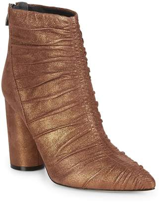 Sigerson Morrison Women's Kimay Ruched Leather Ankle Boots