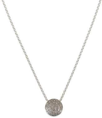 Monica Vinader Silver Fiji Diamond Button Necklace