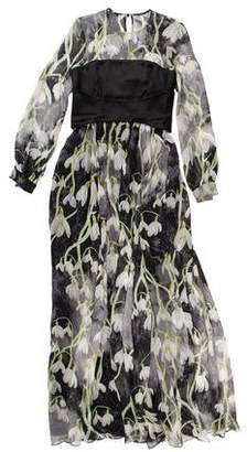 Matthew Williamson Floral Silk Dress