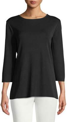 Misook 3/4-Sleeve Layering Shell, Plus Size
