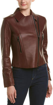 Reiss Remi Bonded Leather Jacket
