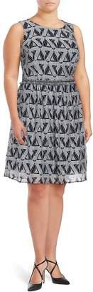 Julia Jordan Women's Printed Fit & Flare Dress