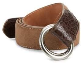 Paul Stuart O-Ring Suede Belt