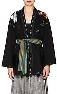 MONOKI Women's La Flamme Cotton Belted Kimono - Black