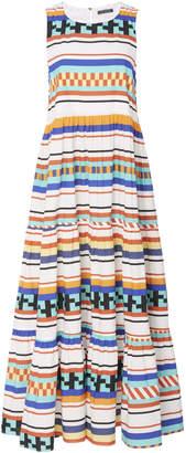 MDS Stripes Printed Cotton Peasant Dress