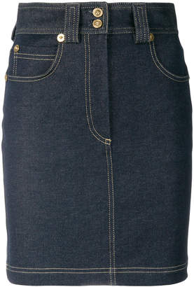 Versace denim fitted skirt