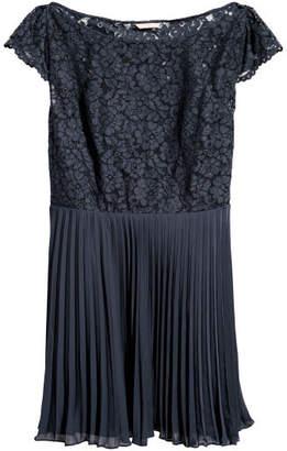 H&M H&M+ Pleated Dress - Blue