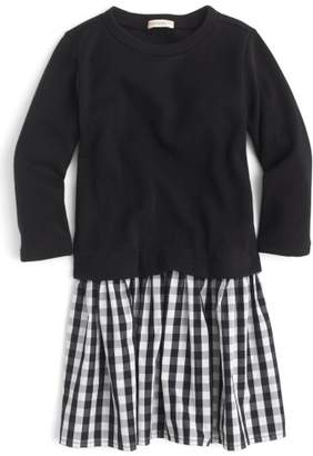 J.Crew crewcuts by Mixed-Media Dress