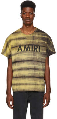 Amiri Yellow Tie-Dye T-Shirt