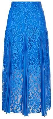 Sandro Pleated Lace Midi Skirt