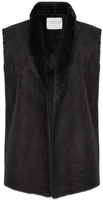 Velvet by Graham & Spencer Black Faux Suede Gilet