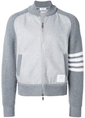 Thom Browne Chunky Saddle Sleeve Cashmere Wool Bomber