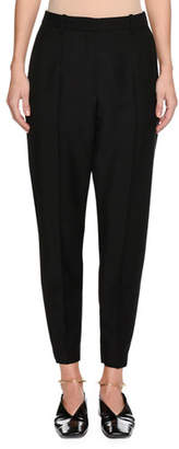 Jil Sander Slim-Fit Tapered-Leg Cropped Wool-Blend Pants