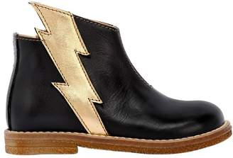 Ocra Lightning Bolt Nappa Leather Ankle Boots