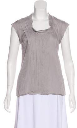 Calvin Klein Sleeveless Raw-Edge Top