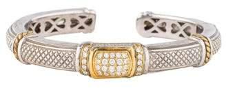 Judith Ripka Two-Tone Diamond Cuff