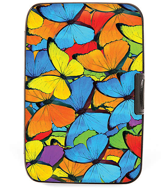 Butterflies Bright Collage Armored Wallet
