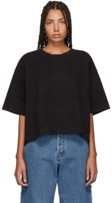 Acne Studios Black Embossed Logo Cylea T-Shirt