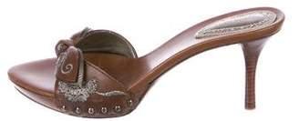 Bottega Veneta Leather Slide Sandals