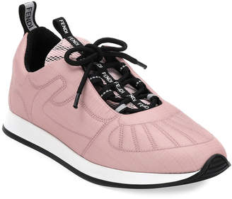 Fendi FFreedom Stretch Lace-Up Sneakers