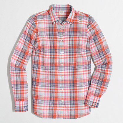 J.Crew Factory Factory classic button-down shirt in suckered plaid