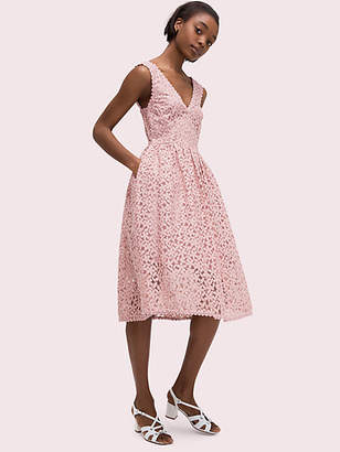 d6807819317d Kate Spade Flora Lace Fit And Flare Dress, Strawberry Mochi - Size 0