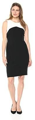 Kasper Women's Stretch Crepe Color Block Sheath Dress