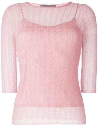 Ermanno Scervino crochet knitted top
