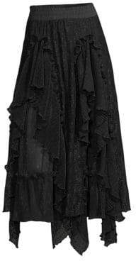 Romance Was Born Hocus Pocus Lace A-Line Skirt