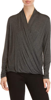 Max Studio Jersey Wrap Long Sleeve Top