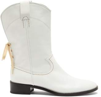 See by Chloe Western Leather Boots - Womens - Ivory