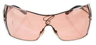 Chopard Embellished Aviator Sunglasses