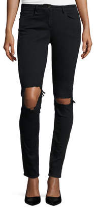 3x1 W2 Mid-Rise Distressed Skinny Jeans, Black Fade $255 thestylecure.com